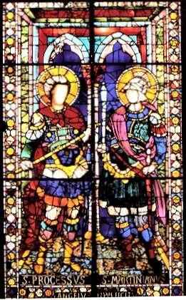 Le saint d'aujourd'hui: Sts Processus et Martinien -martyrs - 1er siècle dans images sacrée